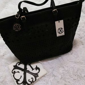 Christian Lacroix Black Tote Bag & Dust Cover NWT